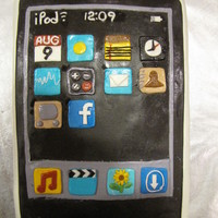 Ipod Birthday Cake Whole cake is decorated with MMF and Chocolate MMF