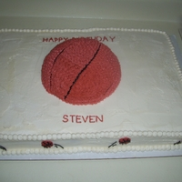 Basketball Cake All buttercream