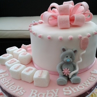 Ashleys Baby Shower Cake And Cupcakes Ashley's baby shower cake and cupcake's :)