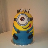 "Minion From Despicable Me 6"" round with half ball cake"