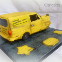 Reliant Robin Van Cake This cake is a model of the Trotter's van from the Only Fools and Horses tv series in the UK.