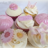Pink And Girly Cupcakes To Match 50Th Birthday Cake X Pink and girly cupcakes to match 50th Birthday cake :) x