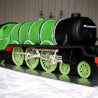 Flying Scotsman Train Cake A 2ft long madeira cake in the shape of a famous steam train: The Flying Scotsman (A3 pacific steam locomotive for you train buffs!)