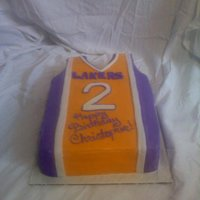 Lakers Jersey Chocolate cake with fondant