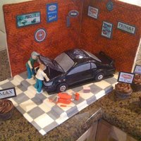 Vintage Mustang Garage This was supposed to be a mustang car...I'm not sure it is the best, but it was my first. The walls and floor are made with...
