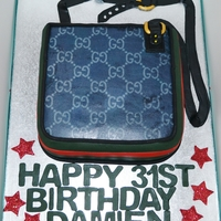 Gucci Man Bag Cake