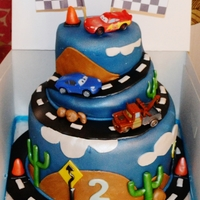Disney Cars 2 Tier Cake