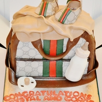 Gucci Baby Changing Bag Cake
