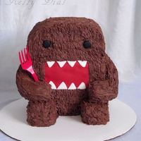 Domo-Kun A Domo-Kun cake for a special little guys first birthday.Chocolate cake covered in chocolate Butter cream. Eyes and mouth are fondant. The...