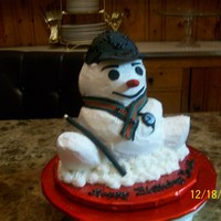 Snowman Now Gucci the Snowman I LOVE! He has a cane, hat, scarf, a watch and he smelled so goooood! Hum, hum, hum