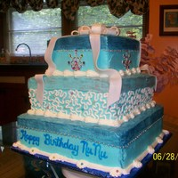Jewel Of Blue Big birthday cake...