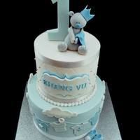 Blue Baby Bear 1St Birthday   *cake inspired by Royal Bakery :)