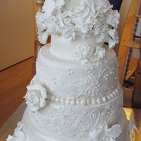 My First Wedding Cake   my first wedding cake