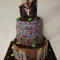 Zombie Cake Zombie birthday cake for 11 year old boy
