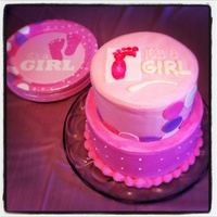 Sweet Cake Made To Match Plates For The Shower Sweet cake made to match plates for the shower
