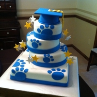 6Th Grade Graduation for my son's graduation from 6th grade, sandycreek tigers. school colors are blue and gold so i made blue velvet and yellow cake...