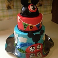 Mickey Mouse Clubhouse Cake Was Asked By Customer To Copy A Photo That She Brought To Me Wish I Could Give Credit To The Original Designe Mickey Mouse Clubhouse cake. Was asked by customer to copy a photo that she brought to me. Wish I could give credit to the original...