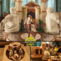 "God Of War: Temple Of Fates  This is a cake inspired from the game ""God of War"". To get us started, our friend offered his Kratos figurine to be part of the..."