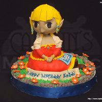 Zelda Is The Cake   This cake is made out of pure love for the game, The Legend of Zelda, inspired by her robe in Skyward Sword and look of Wind Waker.