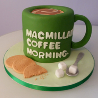 Macmillan Coffee Morning Cake I made this cake for a charity raffle.