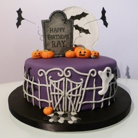 Halloween Birthday Cake A few weeks ago I made a Halloween themed birthday cake for someone who?s birthday fell on the 31st October. The cake was an 8inch sponge...