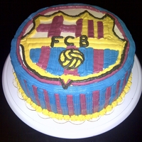 Barcelona Team Cake barcelona FCB team cake for a football addict and FCB fan