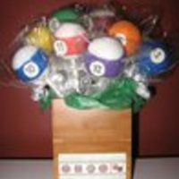 Billiard Ball Bouquet Chocolate Cake Pop - Billiard Ball Bouquet