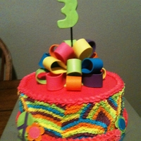 Tie-Dye Birthday Cake Tie-dyed inside and out, 3rd birthday cake