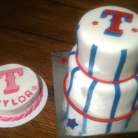 Texas Rangers Cake And Smash Cake 1st birthday, Texas Rangers theme cake