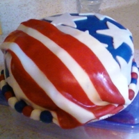 Stars And Stripes Chocolate Pudding cake with MMF. So much fun!