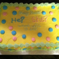 Gender Reveal Cake Love making these!!