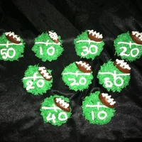 Superbowl Cupcakes superbowl sunday cupcakes. footballs are made of fondant