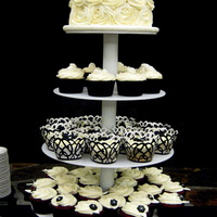 Black & White Wedding Cupcake Tower