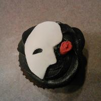 Phantom Of The Opera Cupcakes I Donated For My Kids School Band Bake Sale They Are Chocolate Cheesecake Flavored Phantom of the Opera cupcakes I donated for my kids school band bake sale. They are chocolate cheesecake flavored.