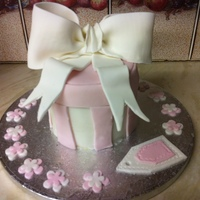 Pink Gift Box Cake This is the first time I have ever decorated a cake and I think it came out pretty well. It was a surprise gift for a friend and she wasn&#...