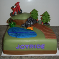 Mountain Bike Cake   All MMF except for the gum paste mountain bike