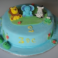 Zac's Birthday   For a little boy who loves animals. I tried to copy this from the amazing Little Cherry Cake Company. Nowhere as perfect as hers!!