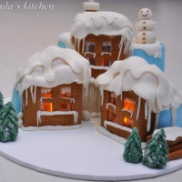 Snowy Cottage Cake Inspired By Anxelis Christmas Cake Tfl Snowy cottage cakeInspired by Anxeli`s Christmas Cake. TFL!!