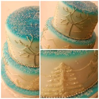 Walking In A Winter Wonderland chocolate cake