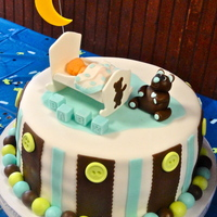 Little Boys Are From Heaven Baby Shower Cake