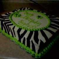 Black And Green Zebra Striped Cake