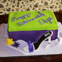 High Heel Shoe Retirement Cake This was my first high heel shoe cake, the shoe is made from gumpaste and the cake is covered in fondant, the shoe box was the most...