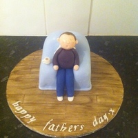 Chair Cake Cake I made for fathers day x