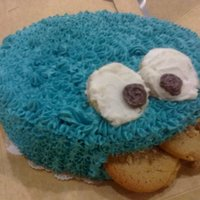 Cookie Monster! ^_^ My first character cake <3