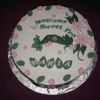 Sweet Pea Baby Shower Cake