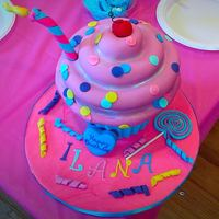 Giant Cupcake Cake Totally forgot to get good pics of this cake I made for my daughter's birthday! Cake inspiration from Andrea's SweetCakes. I just...