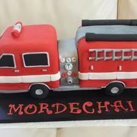 Fire Engine Cake Fun to do but thankfully this one is over with!!!