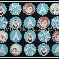 Frozen Cupcake Toppers Elsa, Anna and Olaf cupcake toppers