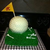 Golf Ball On The Green  I made this for my boss's birthday. It was Italian cream cake with cream cheese frosting. Cream cheese frosting is very forgiving when...