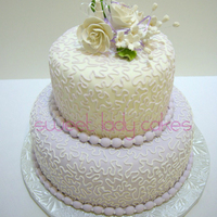 Cornelli Lace Cake With Gumpaste Flowers Although An Anniversary Cake It Could Also Be Used For Birthdays Mothers Day Etc Cornelli lace cake with gumpaste flowers. Although an anniversary cake, it could also be used for birthdays, Mother's Day, etc.